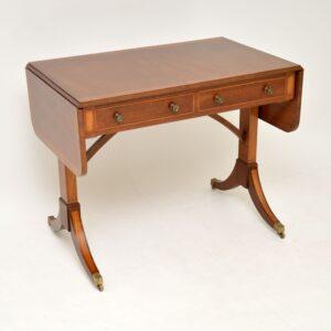 antique mahogany drop leaf regency sofa table