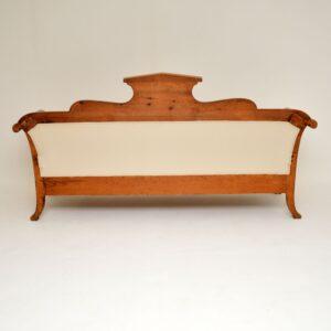 Antique Swedish Satin Birch Biedermeier Sofa