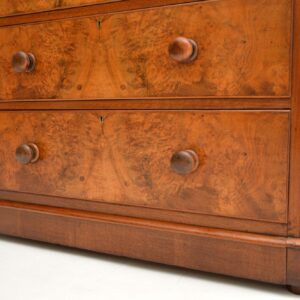 antique victorian burr walnut chest of drawers