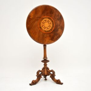 Antique Victorian Inlaid Burr Walnut Occasional Table