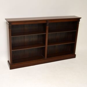 antique mahogany open bookcase