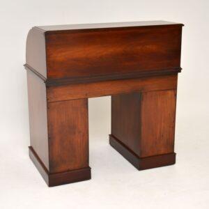 Antique Victorian Mahogany Cylinder Top Desk