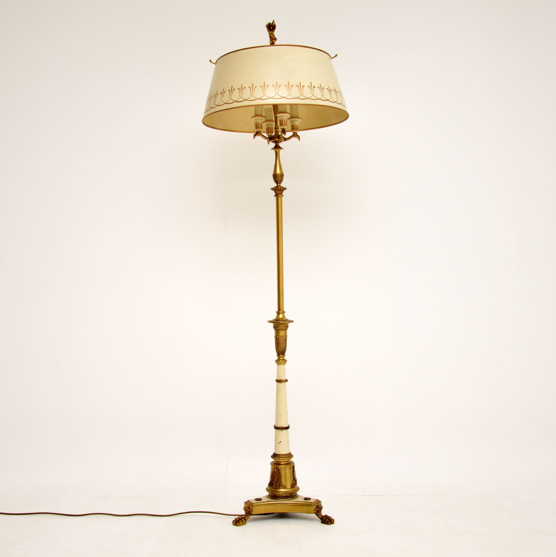 antique vintage tole floor lamp