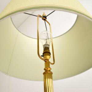 Antique Neoclassical Glass & Brass Floor Lamp