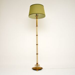 antique vintage glass brass art deco floor lamp