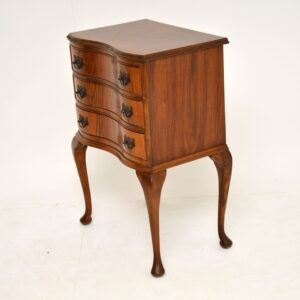 antique walnut chest of drawers on legs side table