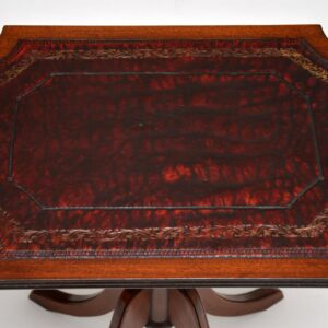pair of antique regency mahogany leather side tables