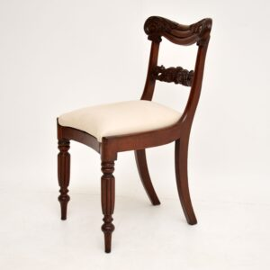Set of 4 Antique William IV Mahogany Dining Chairs