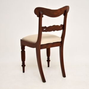 set of four antique mahogany william IV regency dining chairs