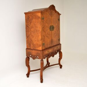 Antique Queen Anne Style Cocktail Drinks Cabinet