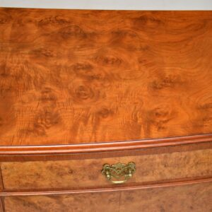 antique burr walnut two door cabinet