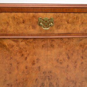 antique burr walnut two door cabinet