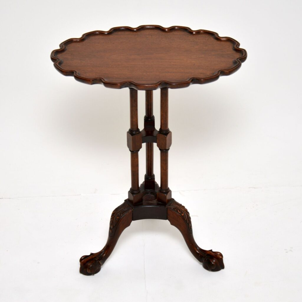 antique carved mahogany wine table
