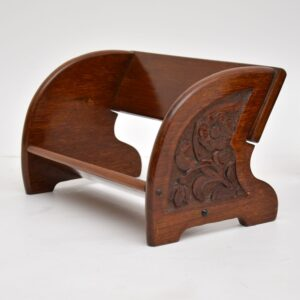 antique mahogany bookcase trough stand tray arts and crafts