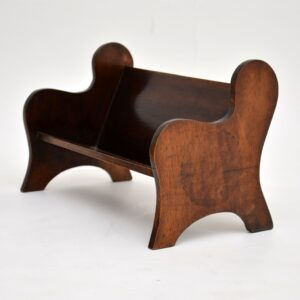 antique mahogany book trough tray stand bookcase arts and crafts