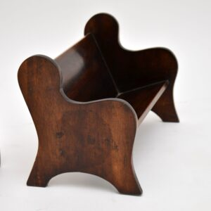 Pair of Antique Arts & Crafts Mahogany Book Trough / Stands