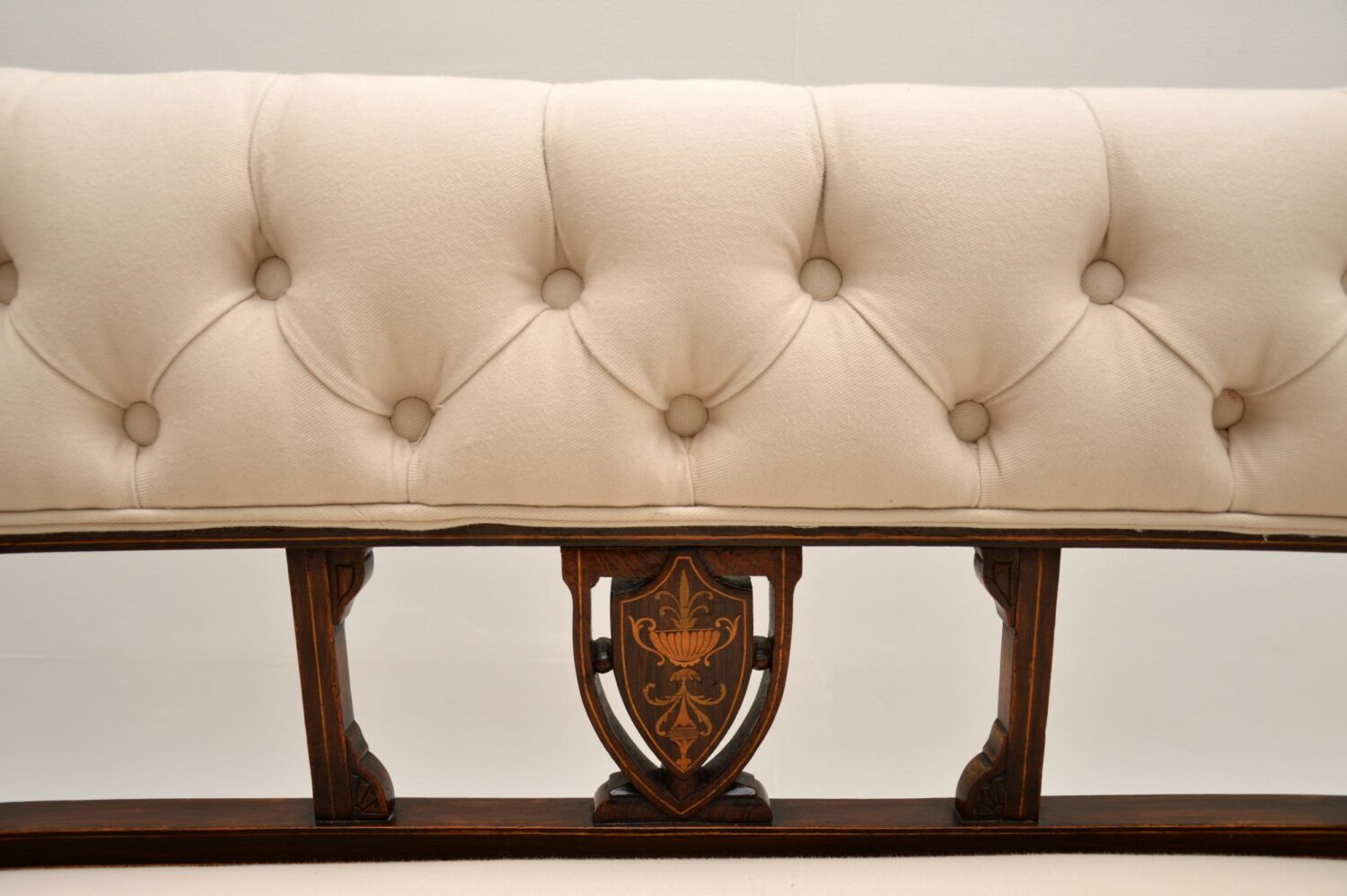 antique victorian edwardian inlaid rosewood settee sofa