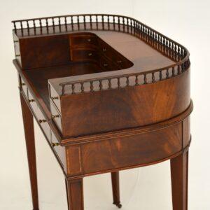 Antique Mahogany & Satinwood Carlton House Desk