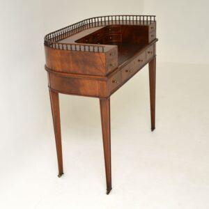 antique mahogany carlton house desk writing table
