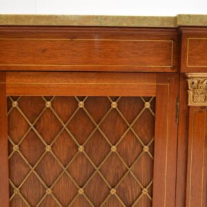 antique mahogany grill front marble top cabinet