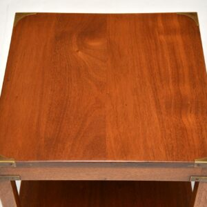 antique mahogany nesting coffee table pair side tables