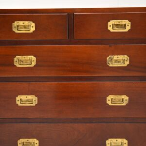 antique mahogany brass military campaign chest of drawers sideboard