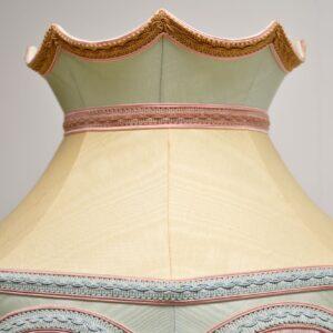 antique mahogany brass regency floor lamp silk shade