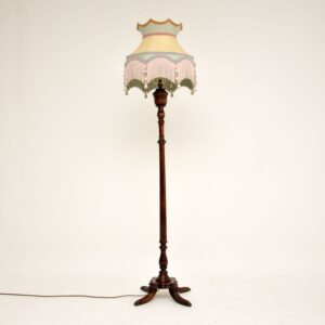 Antique Style Mahogany Floor Lamp