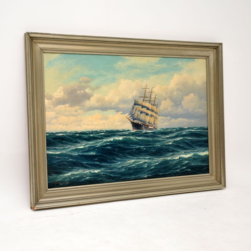 antique nautical marine painting
