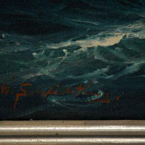 antique nautical marine painting