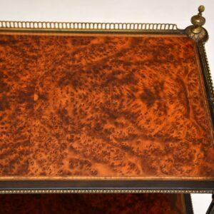 antique french amboyna walnut ebony etagere