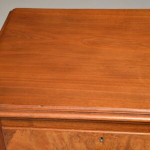 large antique victorian burr walnut chest of drawers
