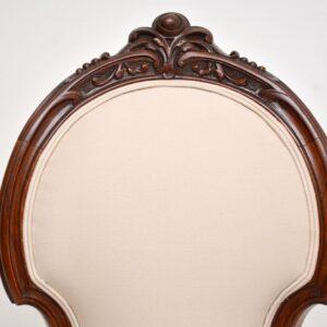 antique victorian walnut nursing chair armchair