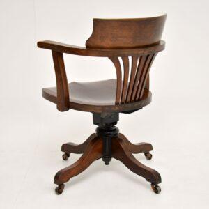 antique swivel desk chair mahogany
