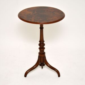 Antique Victorian Burr Walnut Occasional Table