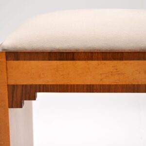 Art Deco Period Burr Maple & Walnut Stool