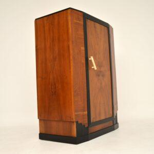 art deco walnut compactum wardrobe