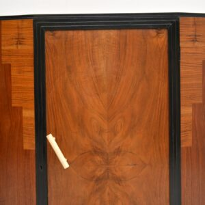 Art Deco Figured Walnut Compactum Wardrobe