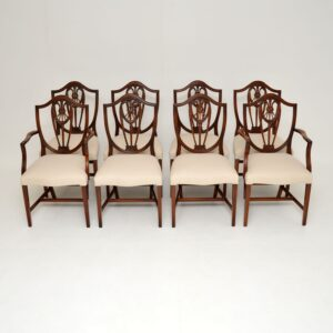 antique georgian mahogany shield back dining chairs