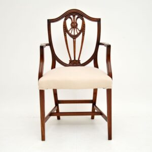 Set of 8 Antique Sheraton Style Mahogany Dining Chairs