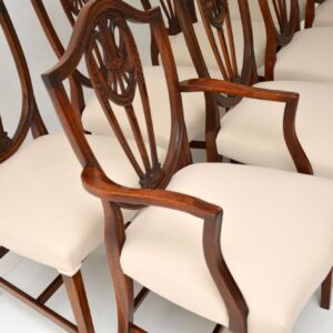 antique mahogany shield back dining chairs