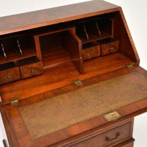 antique georgian burr walnut writing bureau desk