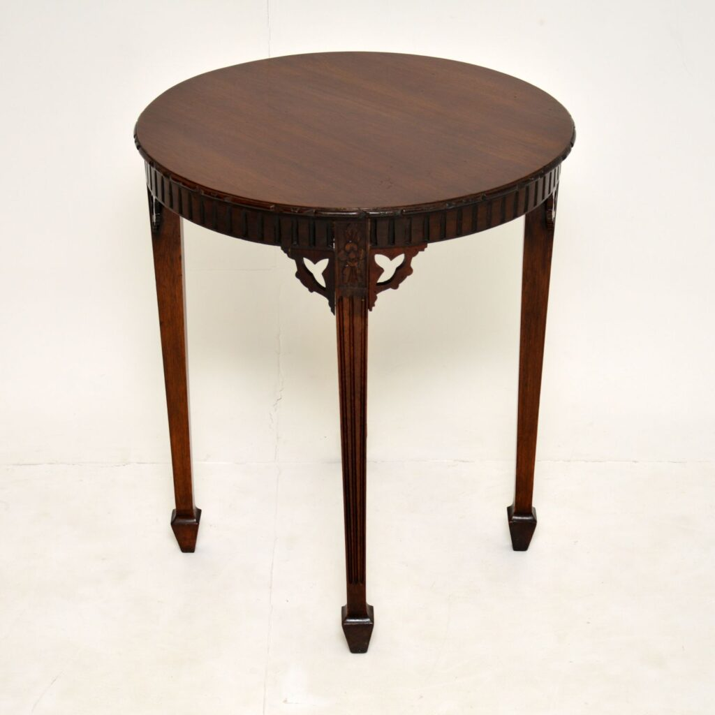 antique edwardian solid mahogany occasional table