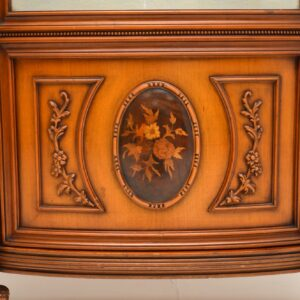 antique italian walnut marquetry display cabinet