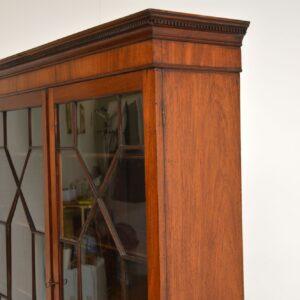antique georgian george III mahogany astral glaze bookcase