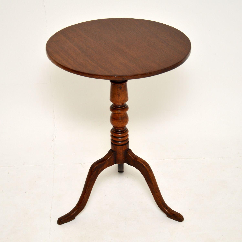 antique georgian mahogany tripod table