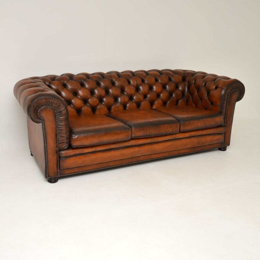 antique victorian leather vintage chesterfield sofa