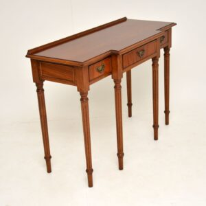 antique georgian style mahogany breakfront console table