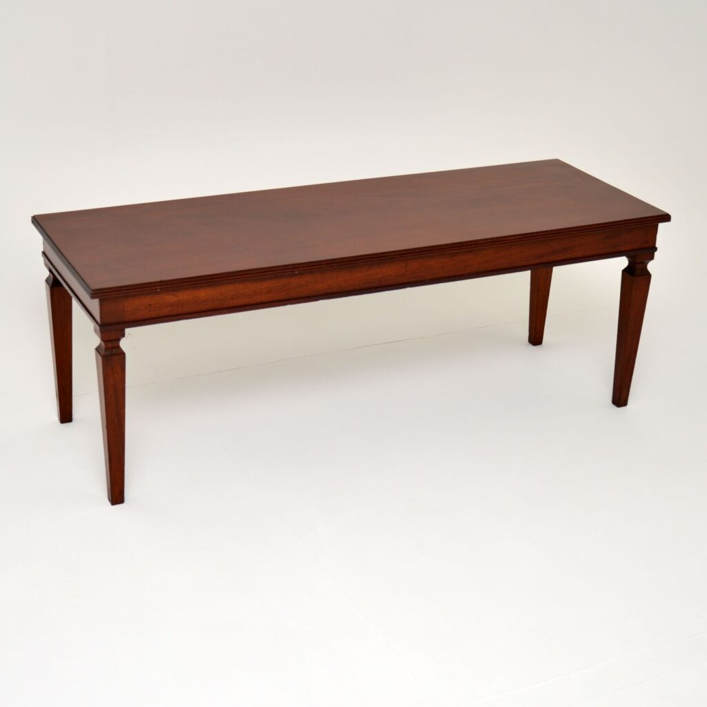 antique edwardian mahogany coffee table