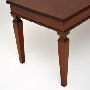 antique edwardian mahogany coffee table